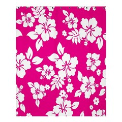 Pink Hawaiian Flower Shower Curtain 60  X 72  (medium)  by AnjaniArt