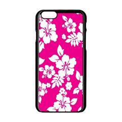 Pink Hawaiian Flower Apple Iphone 6/6s Black Enamel Case by AnjaniArt
