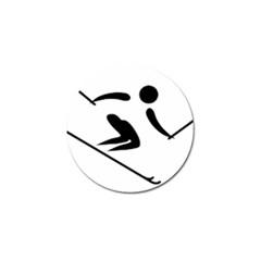 Alpine Skiing Pictogram  Golf Ball Marker (10 Pack) by abbeyz71