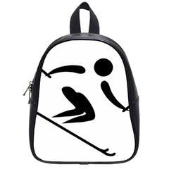 Alpine Skiing Pictogram  School Bags (small)  by abbeyz71