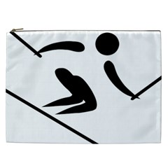 Alpine Skiing Pictogram  Cosmetic Bag (xxl)  by abbeyz71