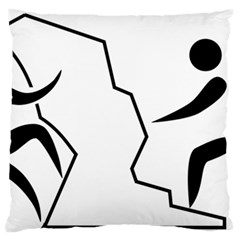 Mountaineering Climbing Pictogram  Standard Flano Cushion Case (one Side) by abbeyz71