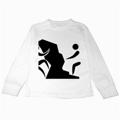 Mountaineering-Climbing Pictogram  Kids Long Sleeve T-Shirts by abbeyz71