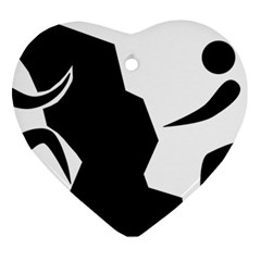 Mountaineering Climbing Pictogram  Heart Ornament (two Sides) by abbeyz71