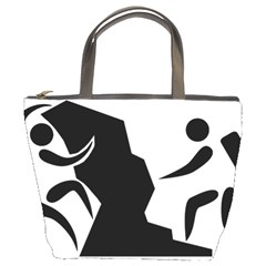Mountaineering Climbing Pictogram  Bucket Bags by abbeyz71
