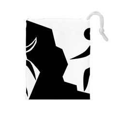 Mountaineering Climbing Pictogram  Drawstring Pouches (large)  by abbeyz71