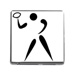American Football Pictogram  Memory Card Reader (square) by abbeyz71