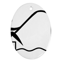 Angling Pictogram Ornament (Oval) by abbeyz71