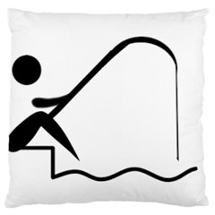 Angling Pictogram Standard Flano Cushion Case (one Side) by abbeyz71