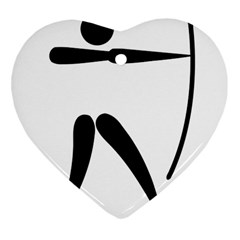 Archery Pictogram Heart Ornament (two Sides) by abbeyz71