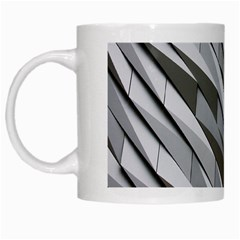 Abstract Background Geometry Block White Mugs by Amaryn4rt