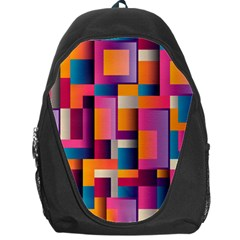 Abstract Background Geometry Blocks Backpack Bag by Amaryn4rt