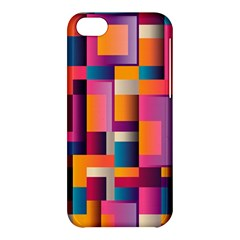 Abstract Background Geometry Blocks Apple Iphone 5c Hardshell Case by Amaryn4rt