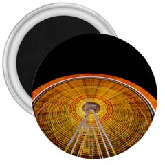 Abstract Blur Bright Circular 3  Magnets by Amaryn4rt