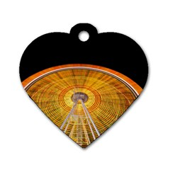 Abstract Blur Bright Circular Dog Tag Heart (one Side) by Amaryn4rt