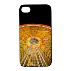 Abstract Blur Bright Circular Apple Iphone 4/4s Hardshell Case With Stand by Amaryn4rt