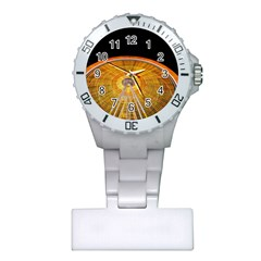 Abstract Blur Bright Circular Plastic Nurses Watch by Amaryn4rt