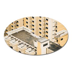 Apartments Architecture Building Oval Magnet by Amaryn4rt