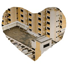 Apartments Architecture Building Large 19  Premium Heart Shape Cushions by Amaryn4rt