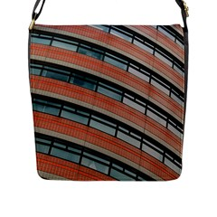 Architecture Building Glass Pattern Flap Messenger Bag (l)