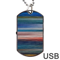 Background Horizontal Lines Dog Tag Usb Flash (two Sides) by Amaryn4rt