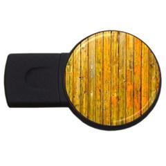 Background Wood Lath Board Fence Usb Flash Drive Round (2 Gb) by Amaryn4rt