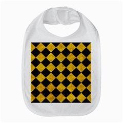 Square2 Black Marble & Yellow Marble Bib by trendistuff