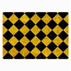 Square2 Black Marble & Yellow Marble Large Glasses Cloth by trendistuff