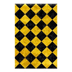 Square2 Black Marble & Yellow Marble Shower Curtain 48  X 72  (small) by trendistuff