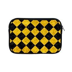 Square2 Black Marble & Yellow Marble Apple Ipad Mini Zipper Case by trendistuff