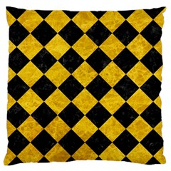 Square2 Black Marble & Yellow Marble Standard Flano Cushion Case (two Sides) by trendistuff