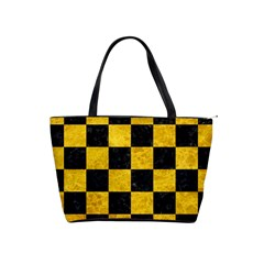 Square1 Black Marble & Yellow Marble Classic Shoulder Handbag by trendistuff