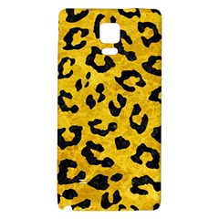 Skin5 Black Marble & Yellow Marble Samsung Note 4 Hardshell Back Case by trendistuff