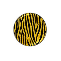 Skin4 Black Marble & Yellow Marble Hat Clip Ball Marker by trendistuff