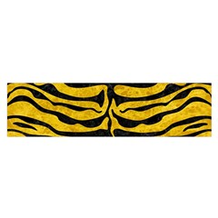 Skin2 Black Marble & Yellow Marble (r) Satin Scarf (oblong) by trendistuff