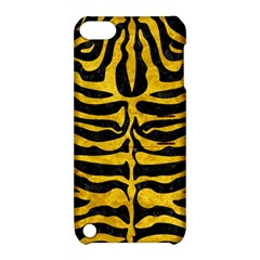 Skin2 Black Marble & Yellow Marble Apple Ipod Touch 5 Hardshell Case With Stand by trendistuff