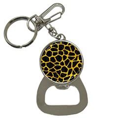 Skin1 Black Marble & Yellow Marble (r) Bottle Opener Key Chain by trendistuff
