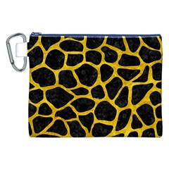 Skin1 Black Marble & Yellow Marble (r) Canvas Cosmetic Bag (xxl) by trendistuff