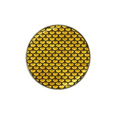 Scales3 Black Marble & Yellow Marble (r) Hat Clip Ball Marker (10 Pack) by trendistuff