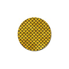 Scales1 Black Marble & Yellow Marble (r) Golf Ball Marker (4 Pack) by trendistuff
