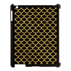 Scales1 Black Marble & Yellow Marble Apple Ipad 3/4 Case (black) by trendistuff