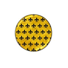 Royal1 Black Marble & Yellow Marble Hat Clip Ball Marker (4 Pack) by trendistuff