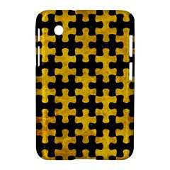 Puzzle1 Black Marble & Yellow Marble Samsung Galaxy Tab 2 (7 ) P3100 Hardshell Case  by trendistuff