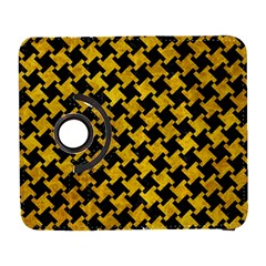 Houndstooth2 Black Marble & Yellow Marble Samsung Galaxy S  Iii Flip 360 Case by trendistuff