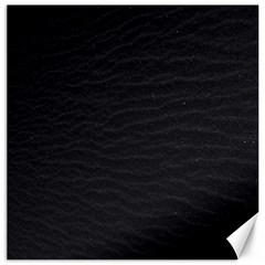 Black Pattern Sand Surface Texture Canvas 20  X 20   by Amaryn4rt