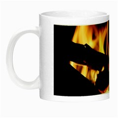 Bonfire Wood Night Hot Flame Heat Night Luminous Mugs by Amaryn4rt