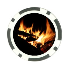 Bonfire Wood Night Hot Flame Heat Poker Chip Card Guard (10 pack) by Amaryn4rt
