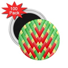 Christmas Geometric 3d Design 2 25  Magnets (100 Pack)  by Amaryn4rt