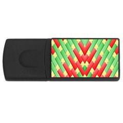 Christmas Geometric 3d Design Usb Flash Drive Rectangular (4 Gb) by Amaryn4rt
