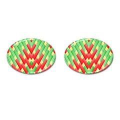 Christmas Geometric 3d Design Cufflinks (oval) by Amaryn4rt